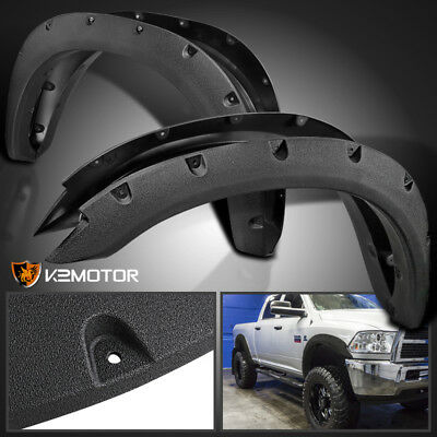 Rugged Textured 2010-2017 Dodge Ram 2500/3500 Pocket Rivet Bolt On Fender Flares