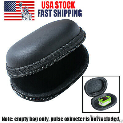 Portable Spo2 Finger Pulse Oximeter Pouch Bag Carrying Case Zipper Storage Carry