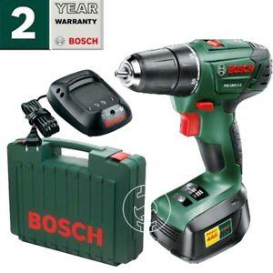 Bosch 18v Lithium-Ion Cordless  Drill, Battery Charger  &Case PSR  1800 LI-2