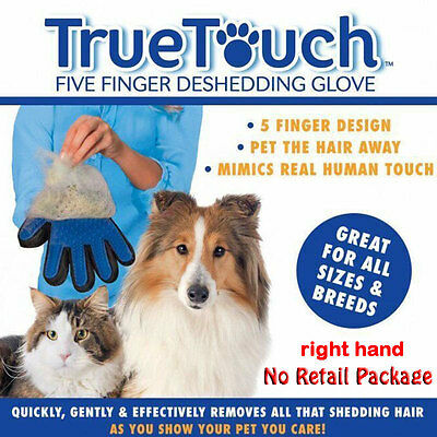 Massage Glove True Touch Deshedding Gentle Efficient Pet Grooming Dogs Cats Bath