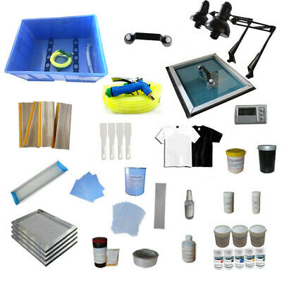 Four Color Screen Printing Equipments Materials Kit Screen Printing Supply
