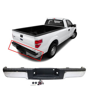 New Chrome 2009-2014 Ford F-150 Rear Bumper Assembly