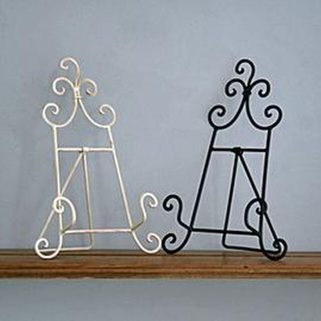 new vintage style metal recipe cook book stand holder cream or black