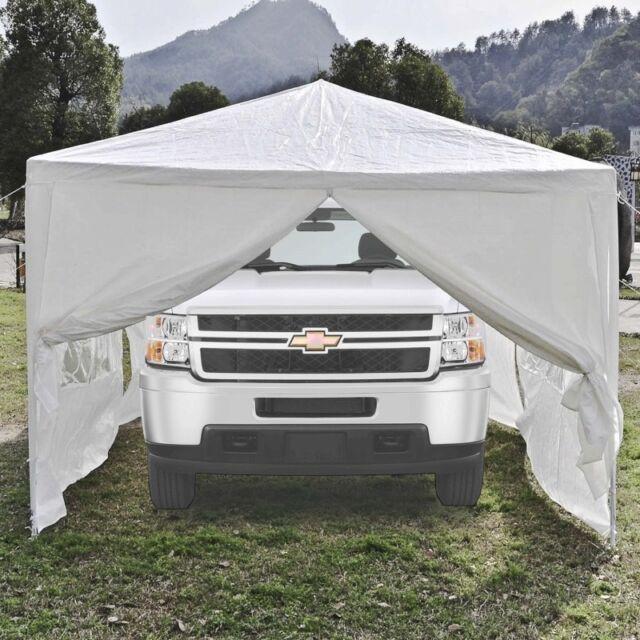 ALEKO Portable Garage Carport Car Shelter PartyTent 30 X 10 Ft Canopy White