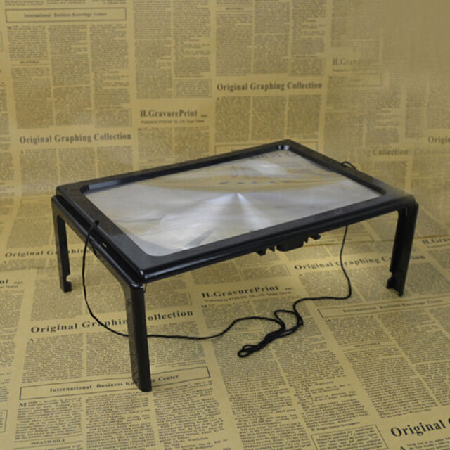 a4 full page large hands free magnifier magnifying glass lens f reading w cord