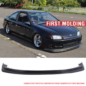 Fit For 92 95 Honda Civic JDM First DP Style Front Bumper Lip Chin FM
