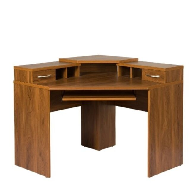 os american furniture classics corner desk wmonitor platform autumn oak