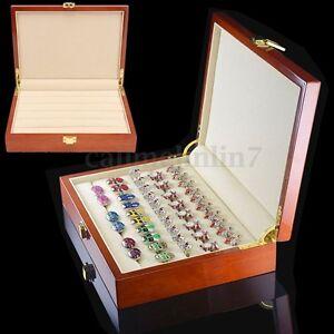 New Retro Large Wood Earring Ring Cufflink Jewelry Display Box Organizer Storage & Wood Cufflink Box | eBay Aboutintivar.Com