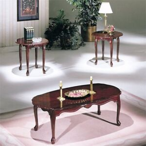 Bowery Hill 3 Piece Coffee Table Set in Cherry & Coffee Table Set | eBay