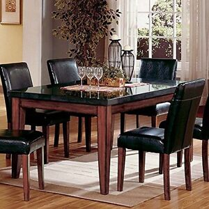 Captivating Steve Silver Company MG500T Montibello Granite Top Rectangular Dining Table