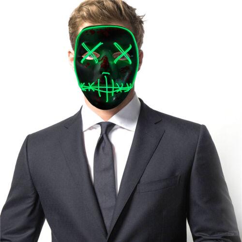 led light up flashing skull mask skeleton halloween rave party favor costume