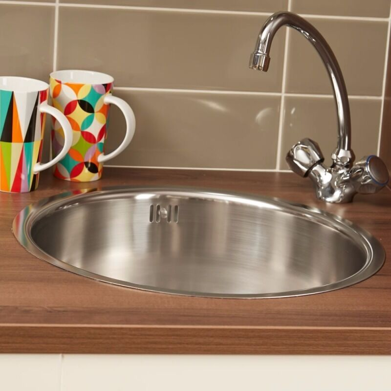 Brand New Sink From Wren With New Chrome Kitchen Tap   Iris ( In Box)