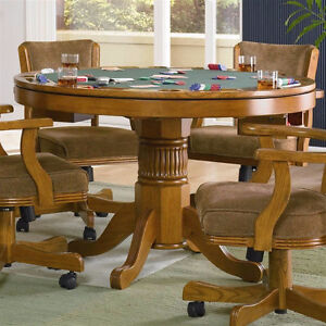 Take A Look At This 5 Piece Poker/3 1 Game Table With Chairs