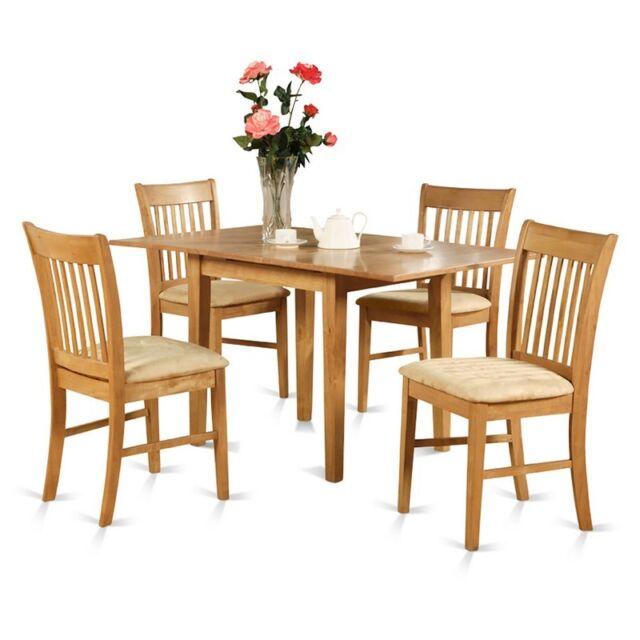 East West Furniture Nofk-oak-c pc Dinette Table Set Oak Finish