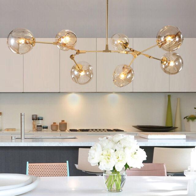 modern ceiling lights bar led lamp glass pendant light large chandelier lighting