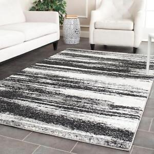 Safavieh Retro Modern Abstract Dark Grey/ Light Grey Distressed Rug (4u0027 X 6