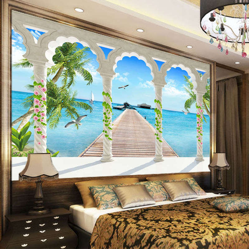 Fresh Cocount 3D Full Wall Mural Photo Wallpaper Printing Home Kids  Decoration