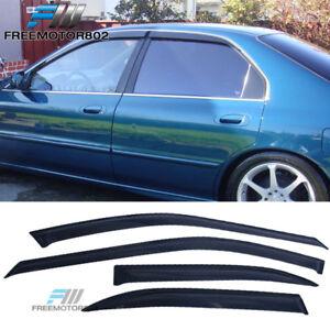 Fits 94 97 Honda Accord Sedan Slim Style Acrylic Window Visors 4Pc Set