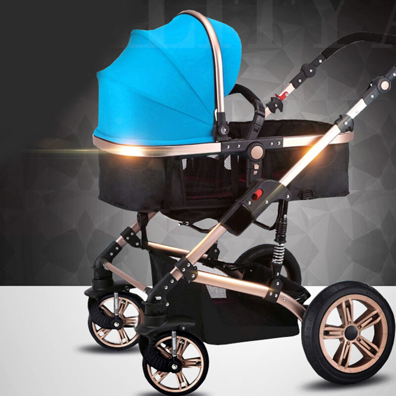 Luxus Baby Kinderwagen 2 In1 Kutsche Kinder Reise Faltbare Pram Pushchair  Carts