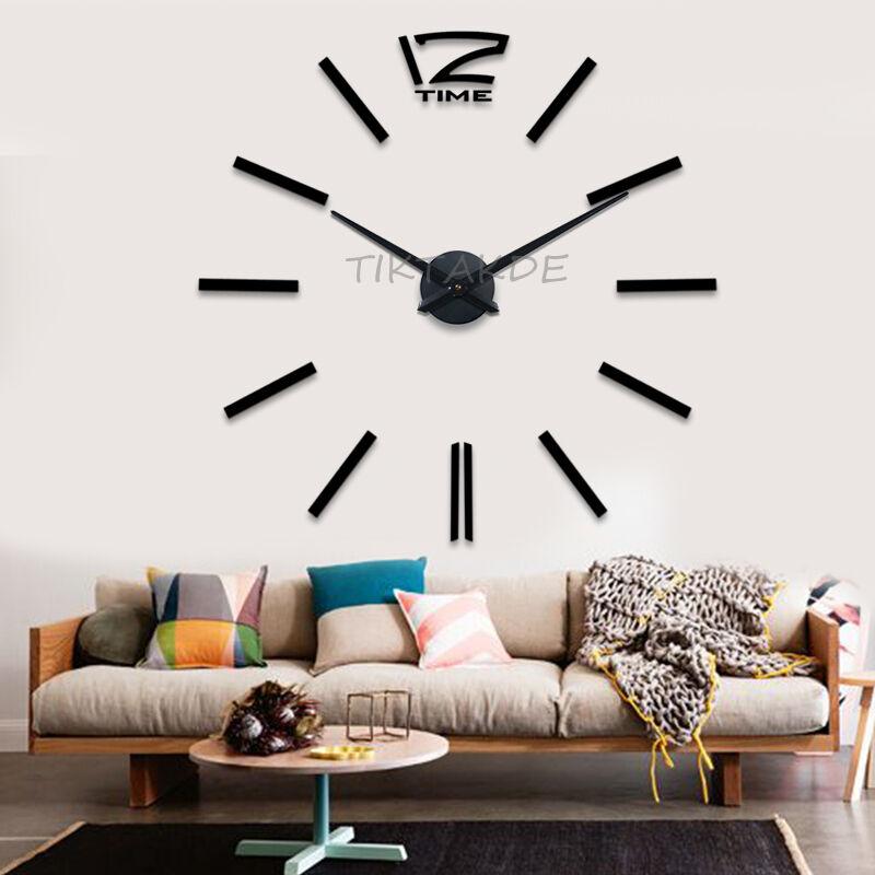 Attraktiv Design Wand Uhr Wohnzimmer Wanduhr Spiegel Wandtattoo Deko Xxl 3D +