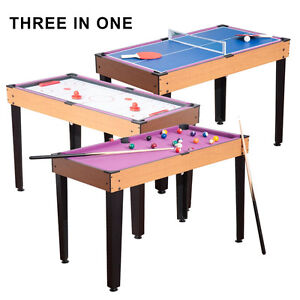 New 3 In 1 Kids Pool Table Game With, Table Tennis U0026 Air