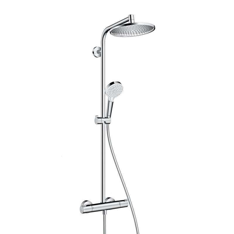 hansgrohe shower pipe crometta s 240 1jet shower system with head in chrome