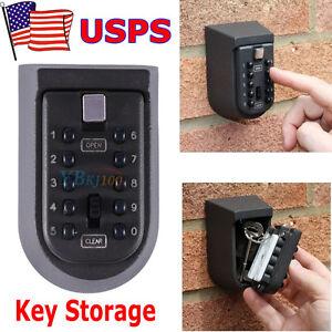 10 Digit Combination Hide Key Lock Box Storage Wall Mount Security Outdoor Case & Key Storage Lock Box | eBay