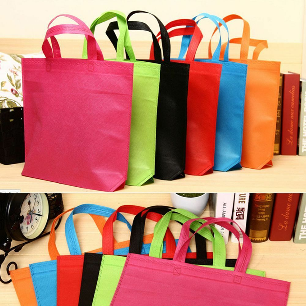 1PC Convenient Colorful Shopping Bag Storage Grocery Reusable Shopper Pouch  Tote