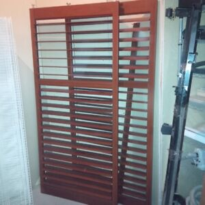Plantation Wooden Shutters   Bay Window And Sliding Doors