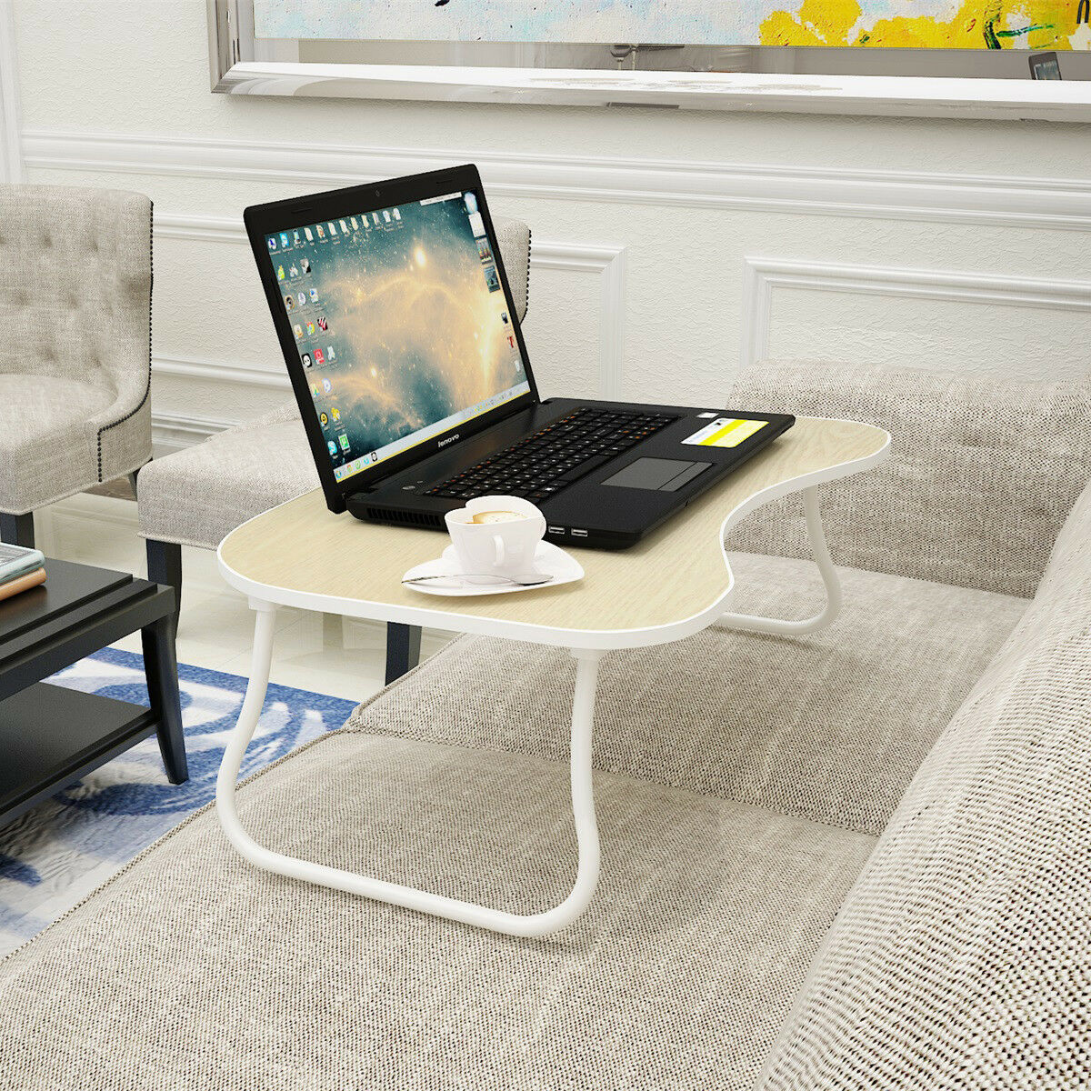 Folding Lap Desk Portable Standing Bed Desk Computer Laptop Stand Laptop  Table