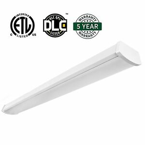 40w 4ft led flushmount shop commercial office ceiling light lumens 5000k