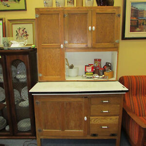 ANTIQUE HOOSIER STYLE KITCHEN BAKING CABINET WOOD