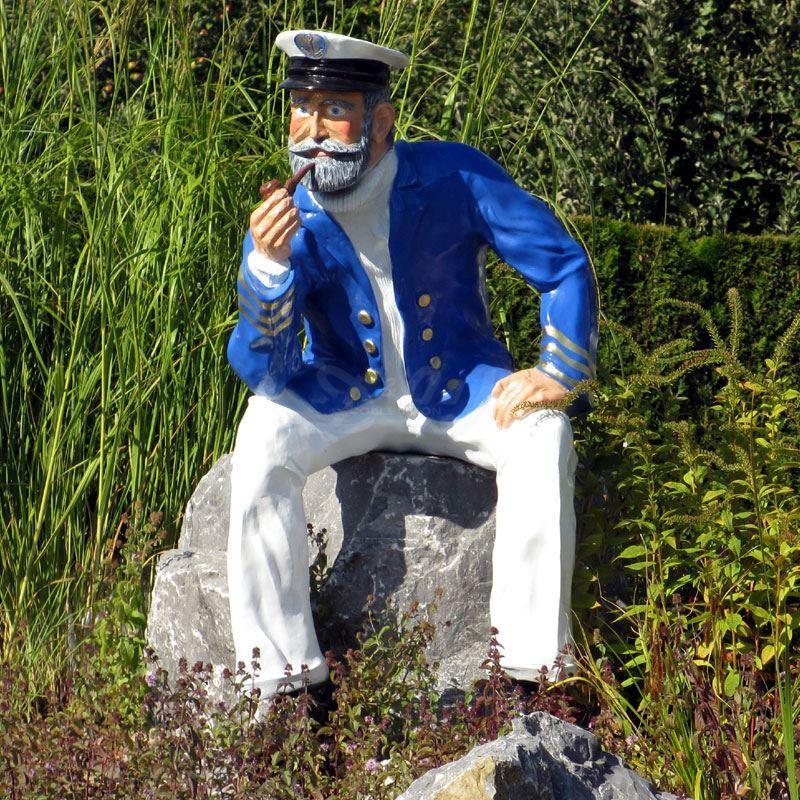 2 Von 5 KAPITÄN MATROSE SEEMANN Sitzend Lebensgroß MARITIME DEKORATION  Garten Deko Figur