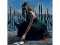 SOLD OUT Limited Edition Venice by Fabian Perez Perfect Condition: Giclée on Canvas Hand Signed