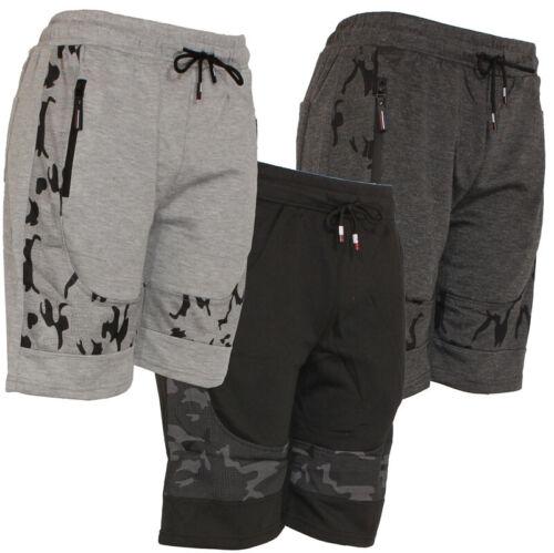 Mens Jogger Shorts Camo Design W/draw String, Active Sports, Zipper Pockets