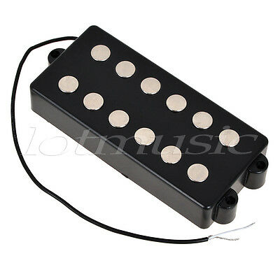 black 6 string bass guitar pickup humbucker double for music man bass coil tap ebay. Black Bedroom Furniture Sets. Home Design Ideas
