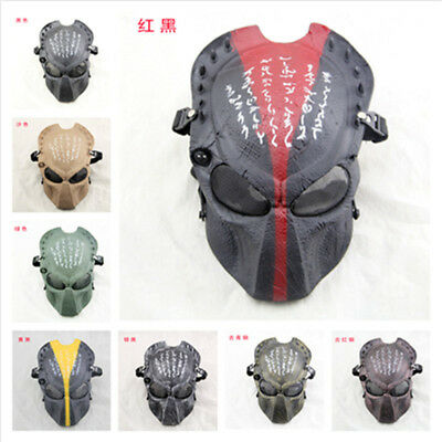 Predator Halloween Costume (Predator Adult Mask Halloween Latex Masks Deluxe Adult Fancy Dress Party)