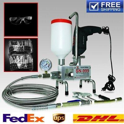Premium Epoxy Injection Pump Polyurethane Foam Steel Hose Never Blast Concrete