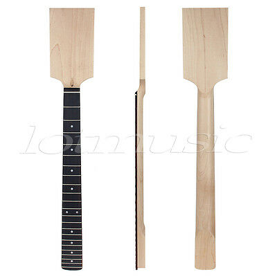 Electric Guitar Neck Paddle Head Maple Rosewood Bolt On 22 Fret Unfinished