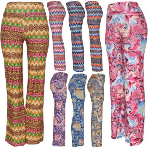 Womens Wide Leg Palazzo Pant, High Waist Stretch Loose Hippie Gypsy Yoga, Dance