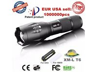 USA E17 XM-L T6 3800LM Tactical cree led Torch Zoomable cree LED Flashlight Torch light for AAA