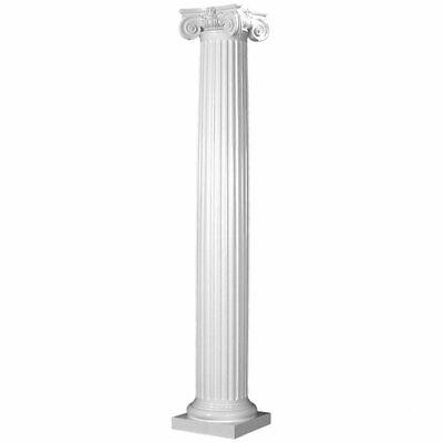 Fiberglass Fluted Tapered Column with Scamozzi Cap & Attic Base (Choose -