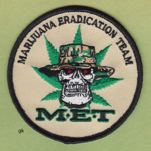MARIJUANA ERADICATION TEAM M.E.T. POLICE DEA SHOULDER  PATCH (hat)