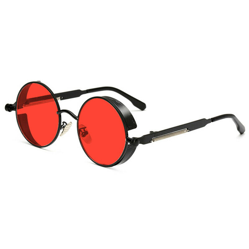 Retro Round Polarized Sunglasses Men Women Vintage Gothic Steampunk Glasses
