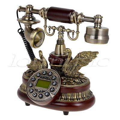 Ceramic Retro Antique Telephone Push Button Dial Desk Phone Home Room Decor Gift
