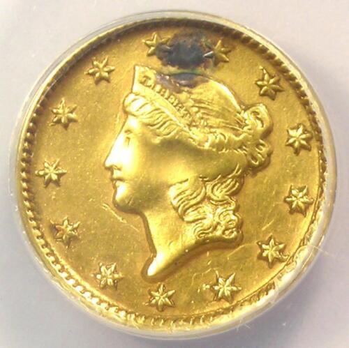 1851-D Liberty Gold Dollar G$1 - ANACS AU50 Details (Plugged) -  Dahlonega Coin!