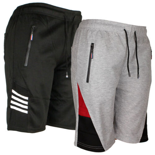 Mens Jogger Shorts W/draw String, Running Active Sports, Zipper Pockets