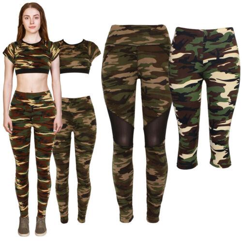Womens Camouflage Military Leggings,capri & 2pc Sets,sexy Slim Camo,sport,casual