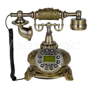 108B Bronze Retro Vintage Push Button Ceramic Antique Telephone Dial Desk Phone