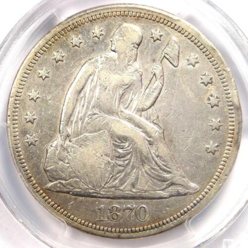 1870-CC Seated Liberty Dollar $1 - PCGS VF Details - Carson City Coin - Looks XF